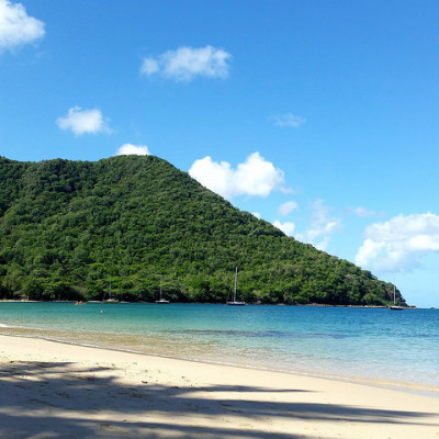 Saint Lucia beach and sea